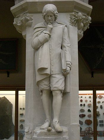 Statue of Isaac Newton at the Oxford Universit...