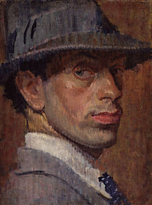 Self-portrait of Isaac Rosenberg, 1915.