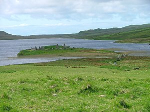 Lord of the Isles - The ruins of Finlaggan Castle on Eilean Mòr, Loch Finlaggan, on the island of Islay, where the Council of the Isles met.