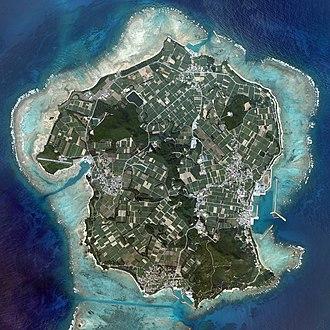 Izena Island - Aerial view of Izena Island