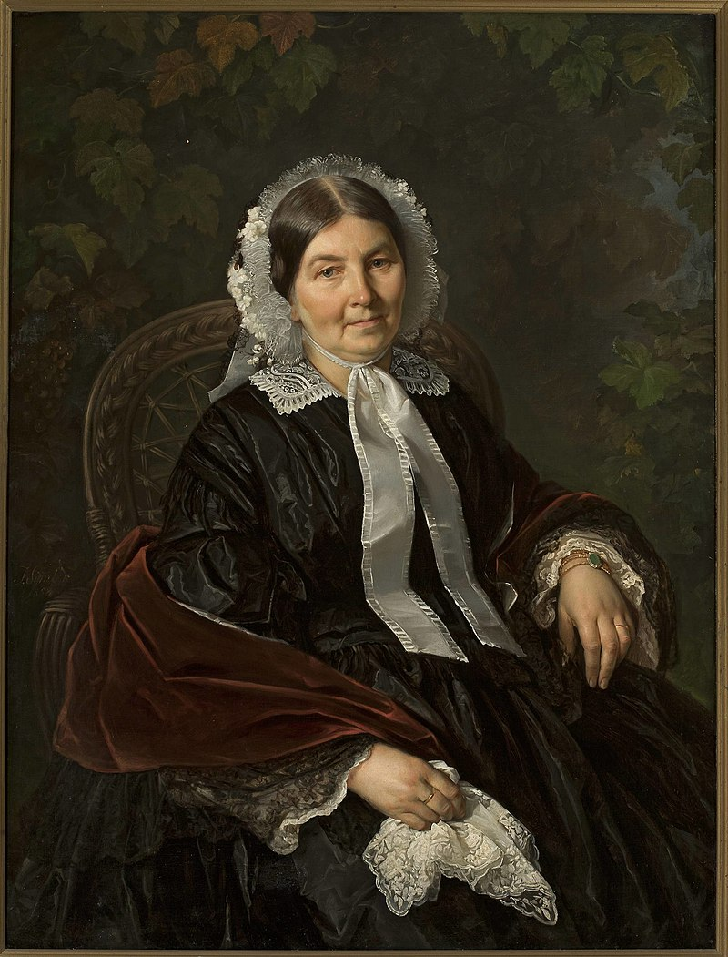 Józef Simmler - Portrait of Matylda Werner - MP 691 - National Museum in Warsaw.jpg