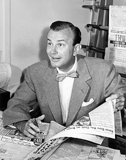 Jack Paar American author, radio and television comedian and talk show host