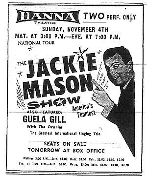Jackie Mason - 1968 ad for the Jackie Mason Show