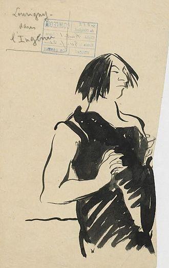 Jacques Louvigny - A 1921 caricature of Louvigny