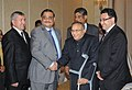 Jaipal Reddy with the Minister of Mines, Afghanistan, Mr. W. Shahrani, the Advisor to the Prime Minister of Pakistan on P&NG, Dr. Asim Hussain and the Minister of Oil & Gas Industry & Mineral Resources, Turkmenistan.jpg