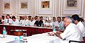 Jairam Ramesh at the meeting with Officials of Cost Guard, MPT, JNPT, Municipal corporation and Environment board of Maharashtra, in Mumbai on August 14, 2010.jpg