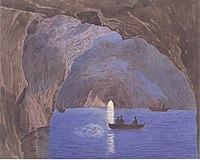 Entdeckung der blauen Grotte auf der Insel Capri cover