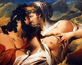Zeus - Jupiter and Juno on Mount Ida by James Barry, 1773 (City Art Galleries, Sheffield.)