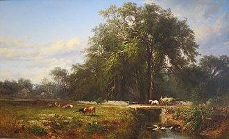 James McDougal Hart - James McDougal Hart - The Old Homestead, oil on canvas, 1862, High Museum of Art