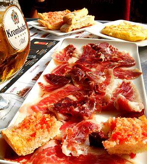 Pa amb tomàquet - With Iberian ham