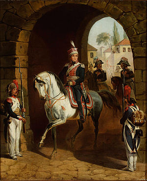 January Suchodolski - Jan Henryk Dąbrowski entering Rome, by January Suchodolski.  Oil on canvas, 1850.