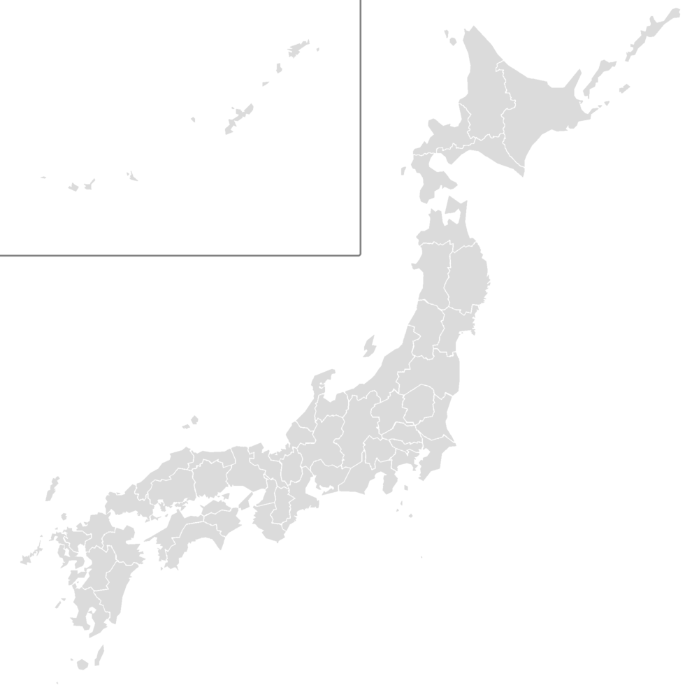 TemplateJapan Football Clubs Map Wikipedia - Japan map black and white