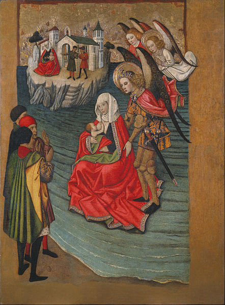 File:Jaume Huguet - Miracle of Mont Saint-Michel - Google Art Project.jpg