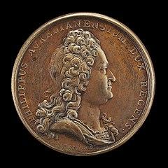 Philippe II, 1674-1723, Duc d'Orléans 1701, Regent of France 1715 [obverse]