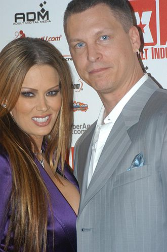 Jenna Jameson - Jameson with former husband Jay Grdina, at the XBIZ Awards in November 2005