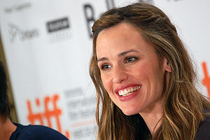 Actress Jennifer Garner at a press conference ...