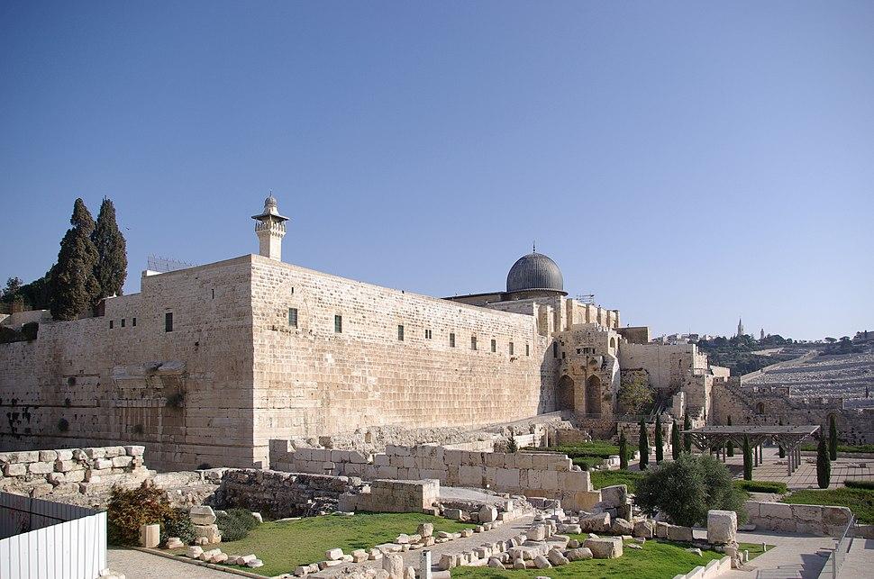 Jerusalem Tempelberg BW 1