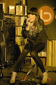 Jessie J, who was given the 'Critics' Choice' award, performing in 2008. Image: Lancashire County Council.