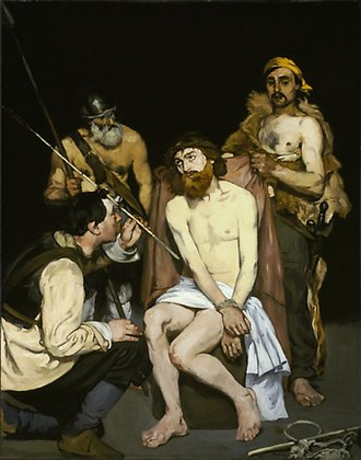 Mocking of Jesus - Édouard Manet, Jesus Mocked by the Soldiers, c. 1865