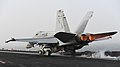 Jet launches off of aircraft carrier. (39129022134).jpg