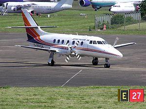 Cruciform tail - British Aerospace Jetstream 31 with cruciform tail