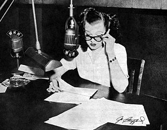 The Chesterfield Supper Club - Jo Stafford at her radio show in 1949.