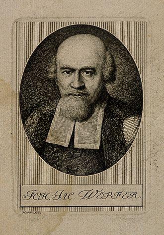 Schaffhausen - Johann Jakob Wepfer, engraving