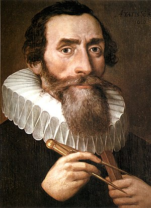 "Johannes Kepler (1571-1630). ""Kepler shows his keen logical sense in detailing the whole process by which he finally arrived at the true orbit. This is the greatest piece of Retroductive reasoning ever performed."" - C. S. Peirce, c. 1896, on Kepler's reasoning through explanatory hypotheses Johannes Kepler 1610.jpg"