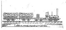 John Bull and train, as drawn by Isaac Dripps in 1887.jpg