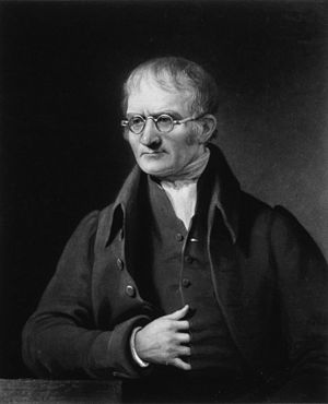 John Dalton - Dalton by Charles Turner  after James Lonsdale (1834, mezzotint)