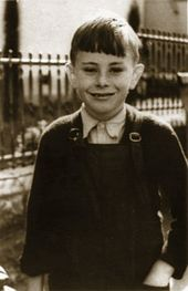 Photograph of John Howard as a boy, taken in the 1940s