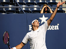 Isner at the 2009 US Open