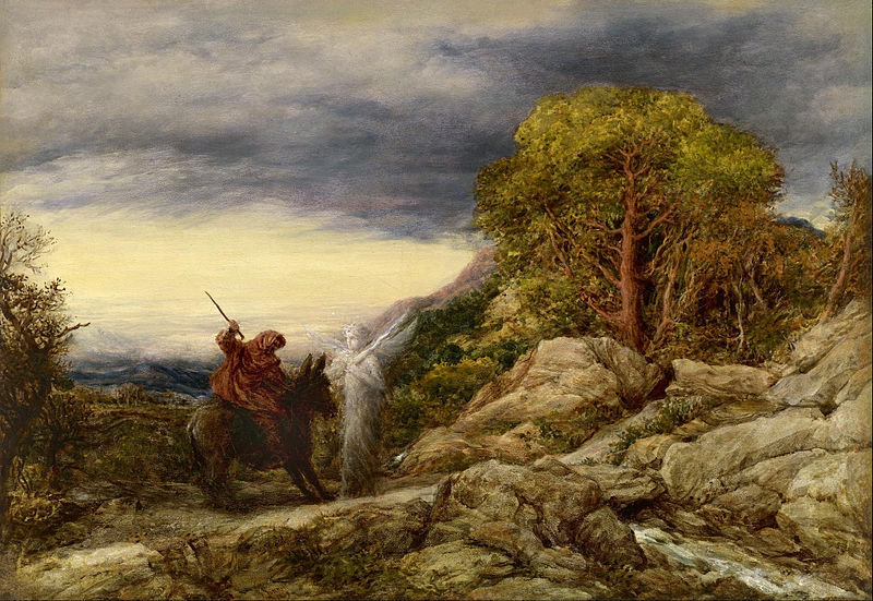 File:John Linnell - The Prophet Balaam and the Angel - Google Art Project.jpg