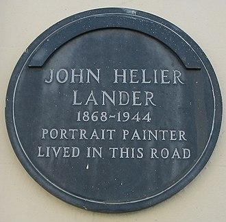 John St Helier Lander - Plaque in Belmont Road, Saint Helier, Jersey
