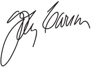 Signature of Johnny Carson.