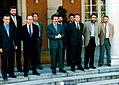 José María Aznar recibe a los representantes sindicales. Pool Moncloa. 15 de mayo de 1996.jpg