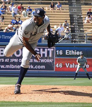 José Valverde - Valverde pitching for the Detroit Tigers in 2011