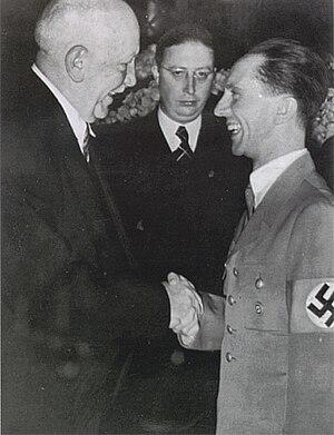 Olympische Hymne - Composer Richard Strauss meeting propaganda minister Joseph Goebbels c.1934/5