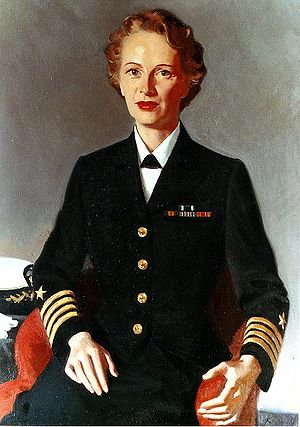 Joy Bright Hancock - Captain Joy Bright Hancock, USN; portrait by David Komuro, c. 1953.