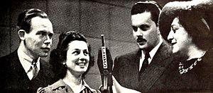 Joyce Jordan, M.D. - Joyce Jordan — Girl Interne actors: Myron McCormick (as Paul Sherwood), Ann Shepherd (as Joyce Jordan), Erik Ralf (as Dr. Hans Simons) and Adelaide Klein (who played a variety of roles) in a photograph from 1940.