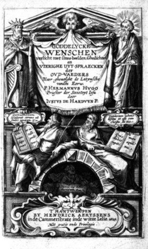 Justus de Harduwijn - Frontispice of Goddelijcke Wenschen (1629)