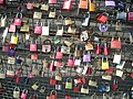 Köln Jul 2012 84 (love padlocks on the Hohenzollernbrücke).JPG