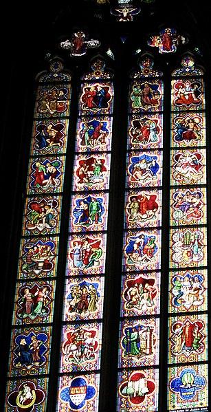 Datei Kolner Dom Fenster Der Westseite Von Innen Sudturm Fenster Der Ehrengarde Der Stadt Koln 1902 Jubilaum 2002 2 Jpg Wikipedia