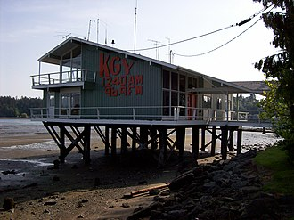 KBUP - KGY studios that were built over Budd Inlet in Olympia in 1960.