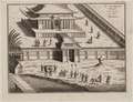 "KITLV - 51W11 - ""The Dajbods Temple juist outside the town of Miaco"" - Copper engraving - 1729.tif"