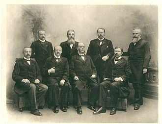 Jacob Theodoor Cremer - Cremer in the Nicolaas Pierson government (seated bottom right)