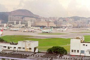 Kai Tak Airport in the 1980s was overcrowded daily