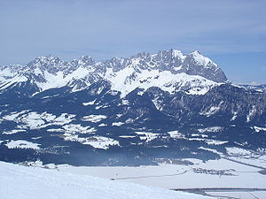 Kaiser Mountains - The Kaiser Mountains from the south