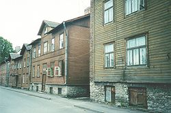Typical wooden apartment buildings in Kalamaja.