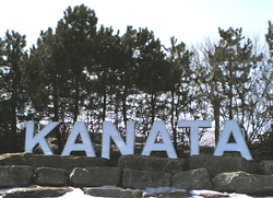Three-metre-high sign at Kanata's eastern boundary